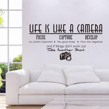 unique creative removable life is like a camera quote wall stickers decals office study decoration mural amazing wall quotes office