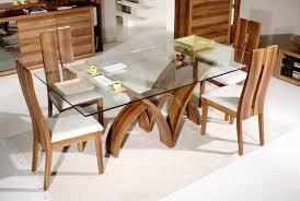 Glass Top Pedestal Dining Room Tables Glass Dining Room Set Furniture Minimalist Transparent Round