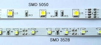 <b>Светодиодная лента</b> 5050 и 3528, отличие и характеристики