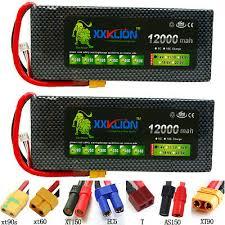 2pcs <b>XXKLION</b> 7.4V 12000mAh 25C 2S <b>LiPo Battery</b> Pack XT60 ...
