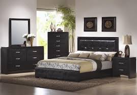 contemporary bedroom furniture set feature two drawer black finish black bedroom furniture set
