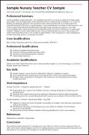 sample nursery teacher cv sample   curriculum vitae buildersample nursery teacher cv sample