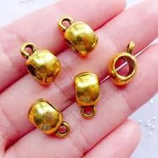 <b>Beads</b> - Gold – MiniatureSweet | Kawaii Resin Crafts | Jewelry Making