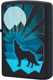 29864 <b>Зажигалка Zippo Wolf</b> and Moon Design, Black Matte
