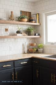 Kitchen Open Shelves Kitchen Reveal With Dark Cabinets And Open Shelving Bigger Than