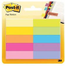 <b>3M Закладки</b> для страниц Post-it, 10 цветов, 50 штук