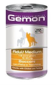 <b>Gemon Dog</b> - <b>Консервы</b> для собак средних пород (кусочки курицы ...