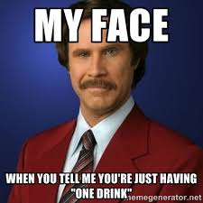 Check Out The Best 'One Drink' Memes Out There - Mandatory via Relatably.com