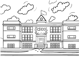 Small Picture Free School House Coloring Page