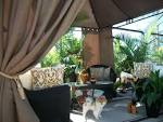 Outdoor cabana curtains