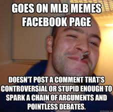 Goes on mlb memes facebook page Doesn't post a comment that's ... via Relatably.com