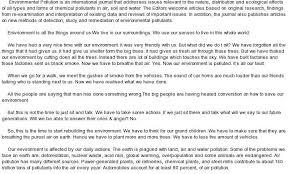 essay on environmental oglasico