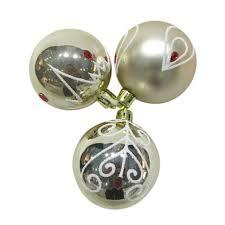 <b>Набор</b> елочных <b>шаров Новогодняя сказка</b> 3 шт. золотистые ...