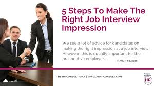 steps to make the right job interview impression