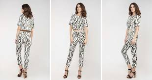 Cropped <b>Jacket</b> In Black/White Print | <b>Conquista</b> Fashion | SilkFred