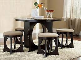 unique small dining table set unique round chairs round dining table two glasses white flower vase c