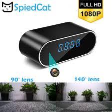 <b>Remotely Table Clock 1080P</b> WIFI Mini Camera Time Alarm P2P IP ...