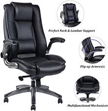 REFICCER Office Chair High Back Leather Executive ... - Amazon.com