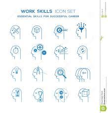work skills icon set stock vector image  work skills icon set royalty stock photo