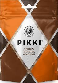 Купить батончики <b>Pikki фруктово-ореховые</b> миндаль-шоколад ...