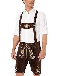 Amazon.com: OKTOBERFEST Men's Bavarian Lederhosen Brown ...