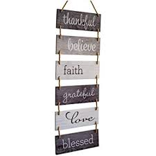 Excello Global Products Large Hanging <b>Wall</b> Sign: Rustic <b>Wooden</b> ...