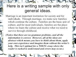 toefl essay topic
