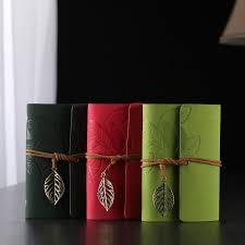 <b>Retro Leaf Vintage Faux</b> Leather Cover NoteBook Diary Journal ...