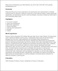 professional instructional coach templates to showcase your talent    resume templates  instructional coach