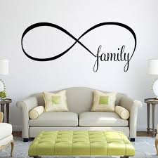 wall decal family art bedroom decor mosunx business cm bedroom wall stickers decor infinity symbol word familychina