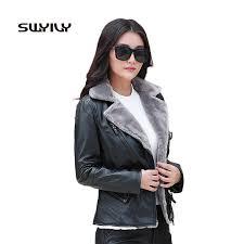Female <b>Faux</b> Suede <b>Coat</b> Biker <b>Jacket</b> Buckle Design 2019 Winter ...