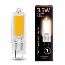 <b>Лампа</b> cветодиодная G4 3.5W 3000K прозрачная <b>Corn</b> Flame, G4 ...