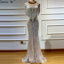 sexy beaded evening dress long