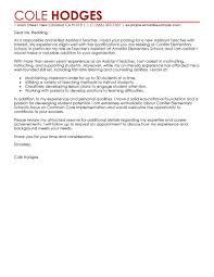 cover letter for teacher assistant resume template info assistant teacher cover letter sample cover letter for teaching position