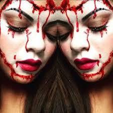 she achieved this look using satude false lashes blood red liquid latex mac stargazer 2016 falseeyelashes