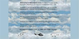 Nnumbers.com - Professional Lettering for your <b>Aircraft</b>
