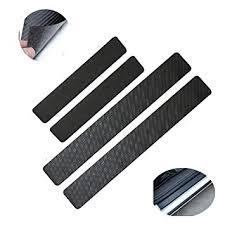 Carbon Fiber <b>Leather Car Door</b> Sill Scuff Plate <b>Guard</b> Sills <b>Protector</b> ...