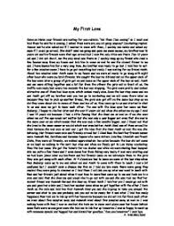 my first love essay  liaoipnodnsru my first love gcse english marked by teachers compage zoom in