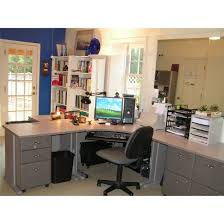 office home office decorating ideas small spaces with computer desk with credenza and bookshelves adorable simple home office decorating ideas