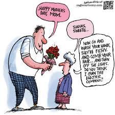 Happy Mothers Day Comic Wash Hands Turn Off Lights : Random Funny ... via Relatably.com