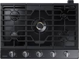 black appliance matte seamless kitchen:  samsung gas cooktop naktg