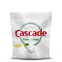 Cascade <b>Free & Clear</b> Dishwasher Detergent | Cascade Detergent