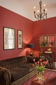 red walls chocolate furniturelove the brown furniture against the wall color brown furniture wall color