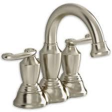 satin nickel bathroom faucets:   ocean grove  handle  inch widespread high arc bathroom faucet