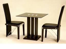 small square kitchen table: small square glass dining table and  chairs in black homegenies small square glass dining table and  chairs in black homegenies