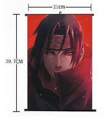 <b>NARUTO ITACHI</b> UZUMAKI Sasuke <b>Wall</b> poster Scroll Home Decor ...