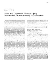 chapter goals and objectives for managing constrained airport page 21