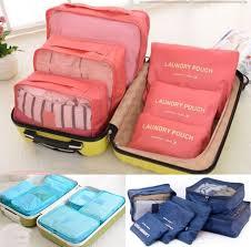 <b>6 Pcs</b> Set Waterproof Clothes Storage Bags Packing Cube Travel ...
