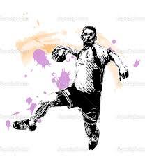 Resultado de imagem para atletas jogando handebol feminino desenhos