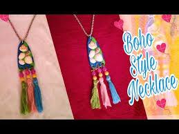 boho style summer tassels mini